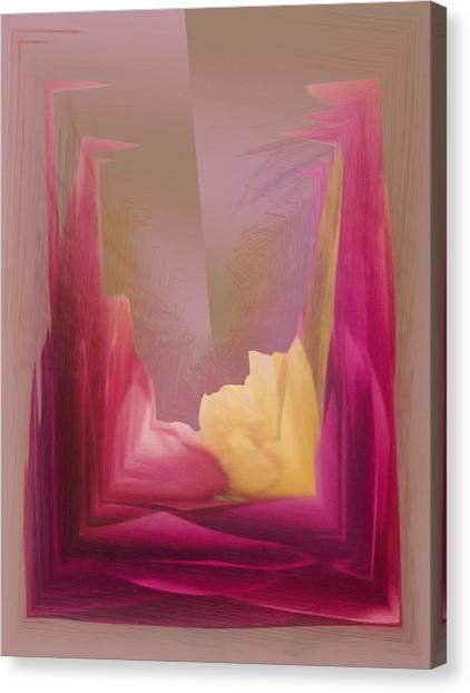 Cornered Yellow Rose Canvas Print