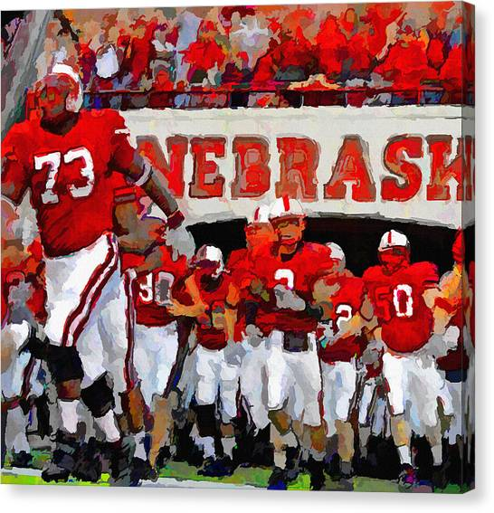 University Of Nebraska Canvas Print - Cornhusker Tunnel by John Farr