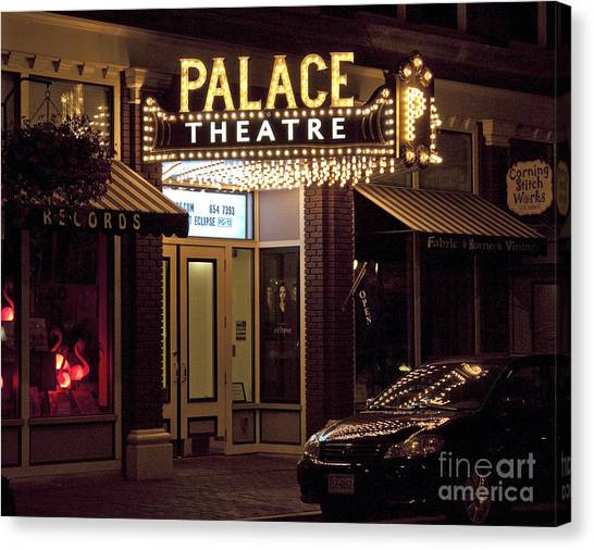 Corning Palace Theatre Canvas Print