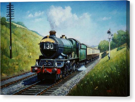 Steam Trains Canvas Print - Cornish Riviera To Paddington. by Mike Jeffries