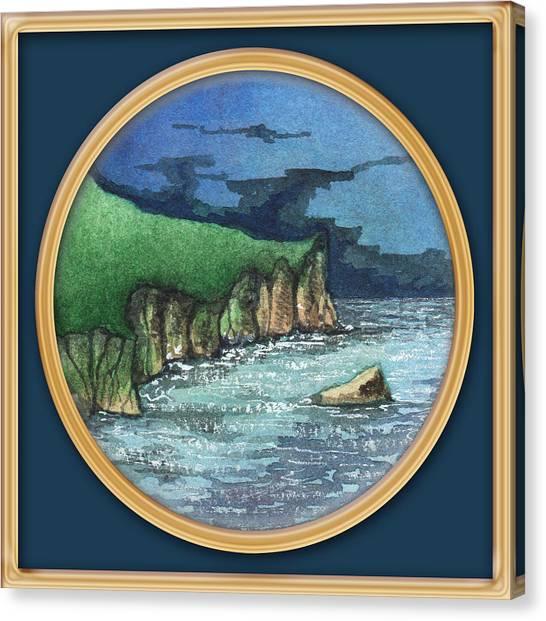 Cornwall Cliffs Canvas Print
