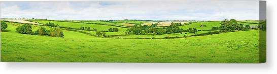 Cornwall Panorama Color Canvas Print