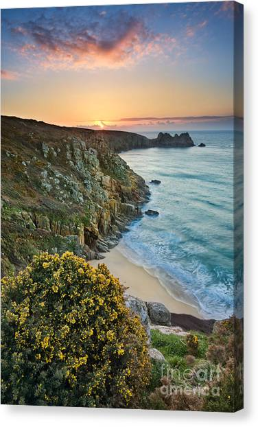 Beach Sunrises Canvas Print - Cornwall Sunrise by Rod McLean