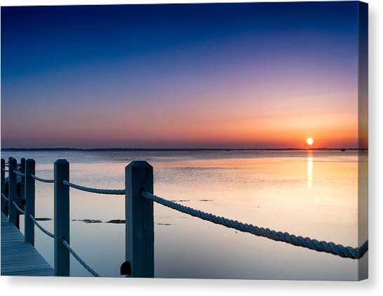 Corolla North Carolina Sunset Canvas Print