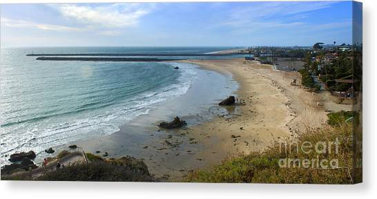 Corona Del Mar Beach View - 02 Canvas Print