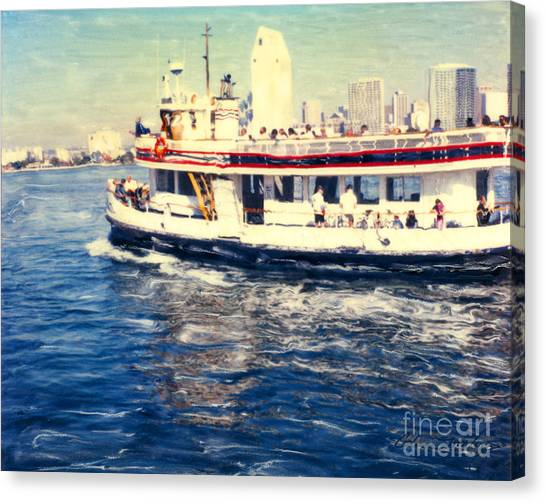 Coronado Ferry - Horz. Canvas Print