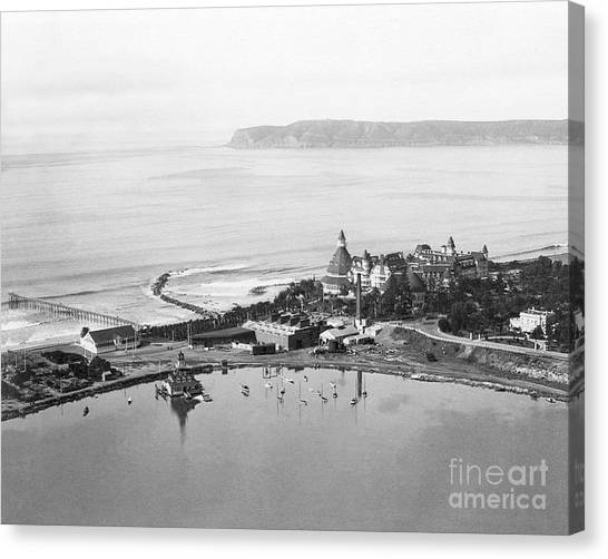 Coronado From Above 1920's Canvas Print