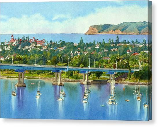 Coffee Mug Canvas Print - Coronado Island California by Mary Helmreich