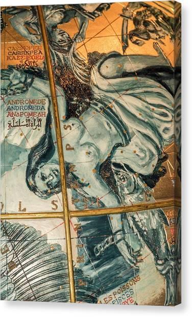 Andromeda Canvas Print - Coronelli's Celestial Globe by David Parker