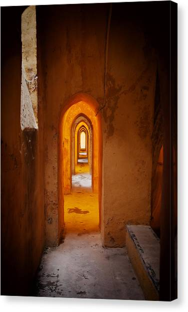 Corridor In The Real Alcazar Of Seville Canvas Print