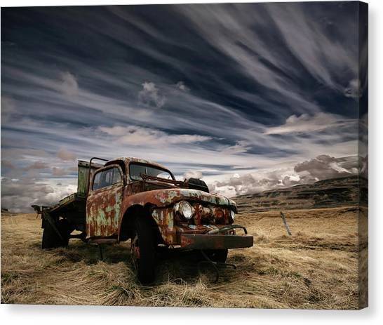 Old Trucks Canvas Print - Corrosion by ?orsteinn H. Ingibergsson