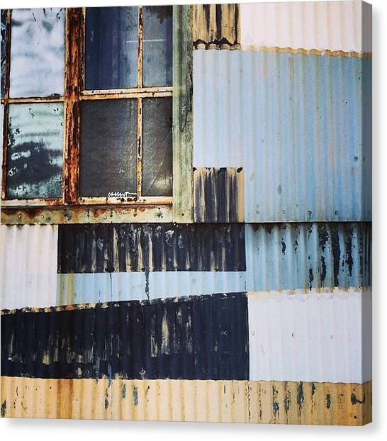 Warehouses Canvas Print - Corrugated II by Tom Parrette