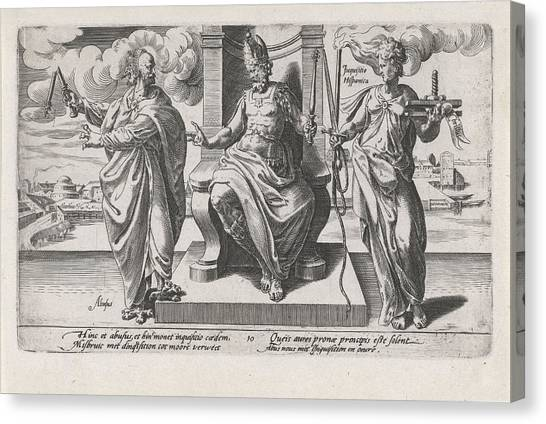 Influence Canvas Print - Corrupt Rulers And The Spanish Inquisition Commit Murder by Dirck Volckertsz Coornhert And Adriaan De Weerdt And Hendrick Hondius I