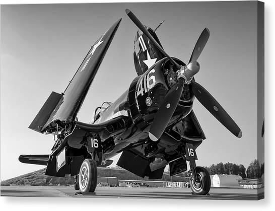 Corsair On The Ramp Canvas Print