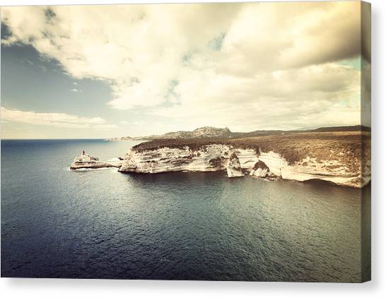 Corsica Winter Canvas Print