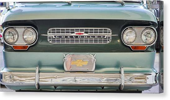 Chevrolet Corvaire95 Truck Grill Canvas Print