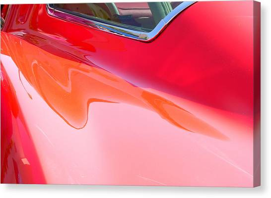 Canvas Print featuring the photograph Corvette Beautiful Art Lines by Jeff Lowe
