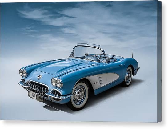 Automobiles Canvas Print - Corvette Blues by Douglas Pittman