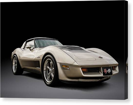 Muscles Canvas Print - Corvette C3 by Douglas Pittman