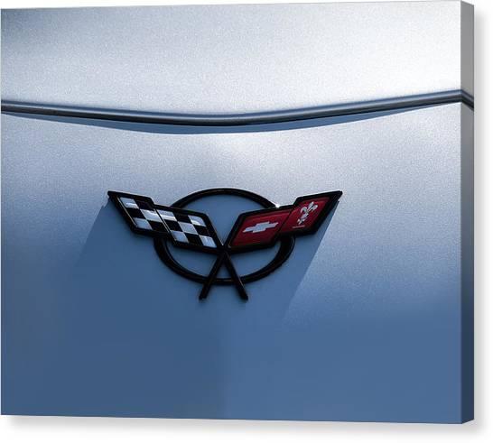 Chevy Canvas Print - Corvette C5 Badge by Douglas Pittman