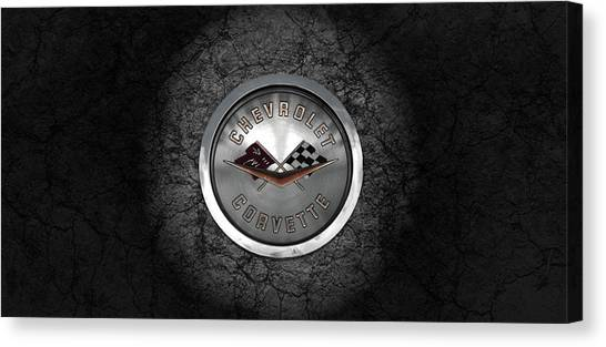 Corvette Emblem Canvas Print