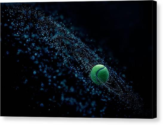 Sports Canvas Print - Cosmic Ball by Joe Conroy