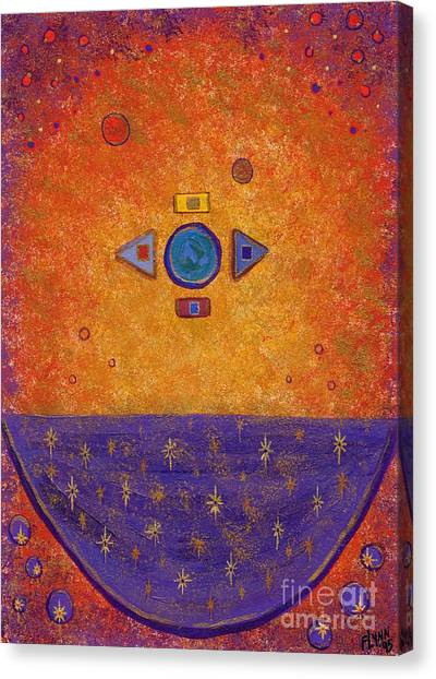 Cosmic Cauldron Canvas Print by Tharsis Artworks