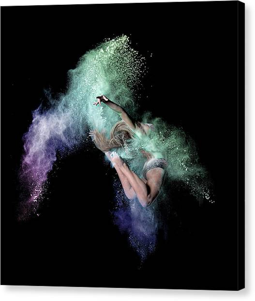 Jump Canvas Print - Cosmic Dancer by Pauline Pentony Ma