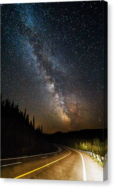 Satellite Canvas Print - Cosmic Highway by Matt Molloy