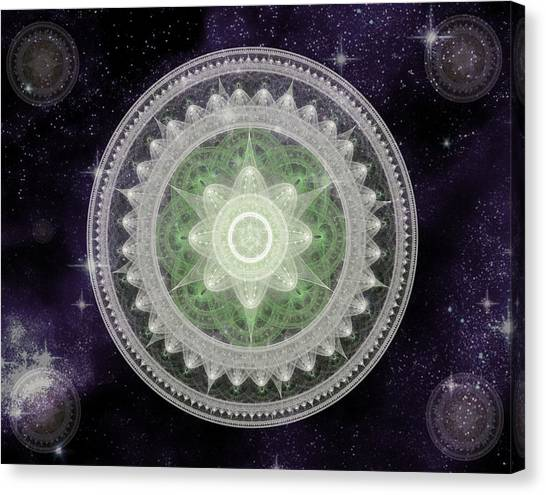 Cosmic Medallions Earth Canvas Print