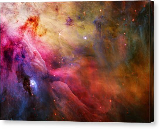 Stellar Canvas Print - Cosmic Orion Nebula by Celestial Images