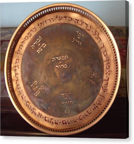 Cosmic Seder Plate Canvas Print