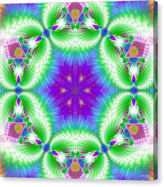 Cosmic Spiral Kaleidoscope 10 Canvas Print