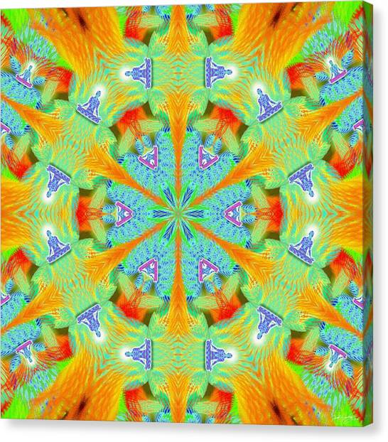 Cosmic Spiral Kaleidoscope 41 Canvas Print