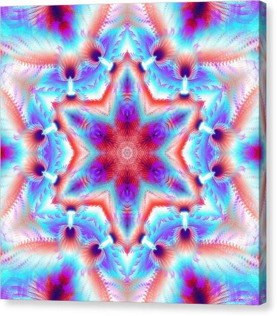 Cosmic Spiral Kaleidoscope 45 Canvas Print