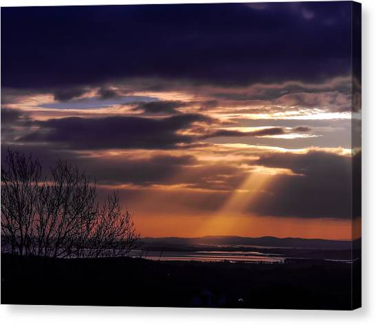 Cosmic Spotlight On Shannon Airport Canvas Print