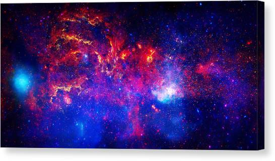 Stellar Canvas Print - Cosmic Storm In The Milky Way by Celestial Images