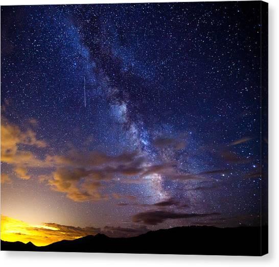 Shooting Stars Canvas Print - Cosmic Traveler  by Darren  White