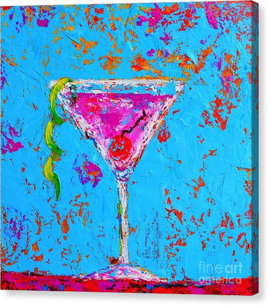 Cosmopolitan Martini Cherry Flavored - Modern Art Canvas Print