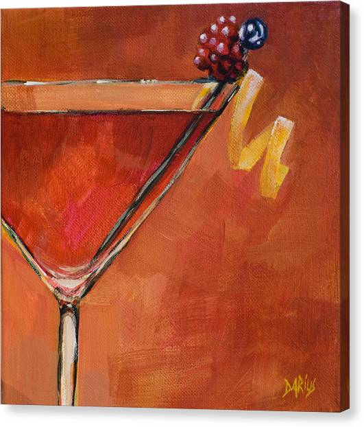 Martini Canvas Print - Cosmopolitan by Sue  Darius