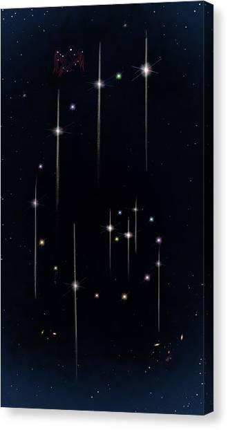 Cosmos - Art Of The Science Tarot Canvas Print
