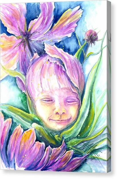 Cosmos Bud Canvas Print