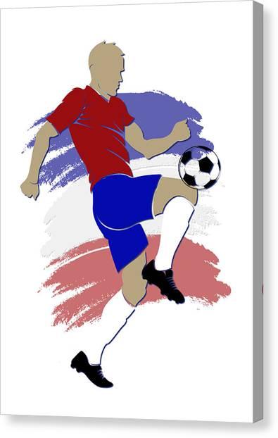 Keeper Canvas Print - Costa Rica Soccer Player by Joe Hamilton