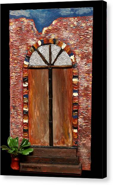 Costa Rican Doorway Canvas Print