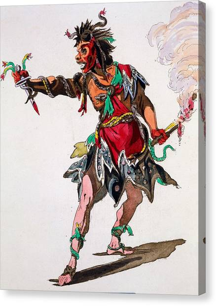 Baroque Canvas Print - Costume Design For A Fury by French School