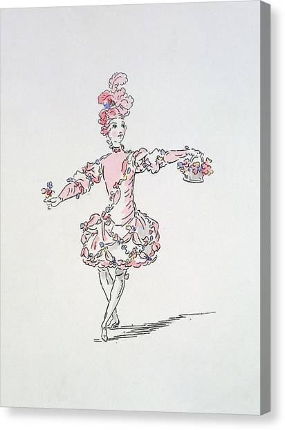 Baroque Canvas Print - Costume Design For A Young Egyptian Dressed As Spring by French School