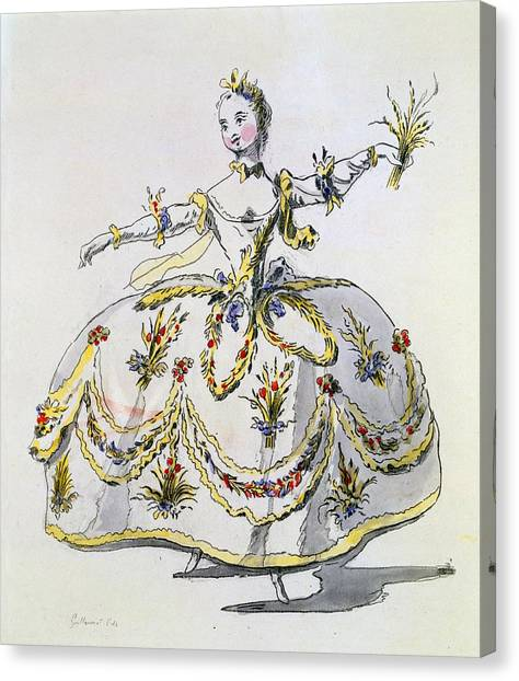 Baroque Canvas Print - Costume Design For Ceres, Facsimile by French School