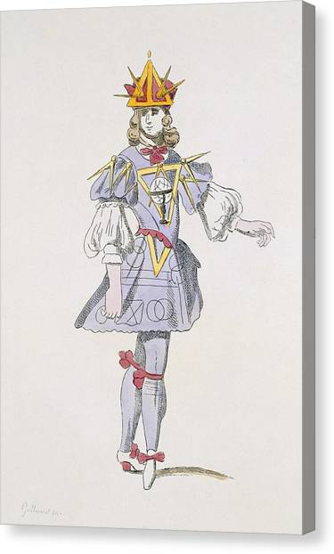 Baroque Canvas Print - Costume Design For Geometry In A 17th by French School