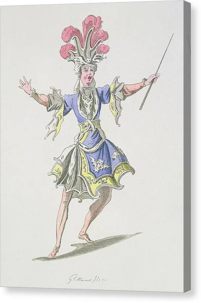 Baroque Canvas Print - Costume Design For The Magician by French School