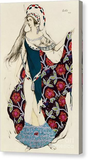 Jewish Artist Canvas Print - Costume Design by Leon Bakst
